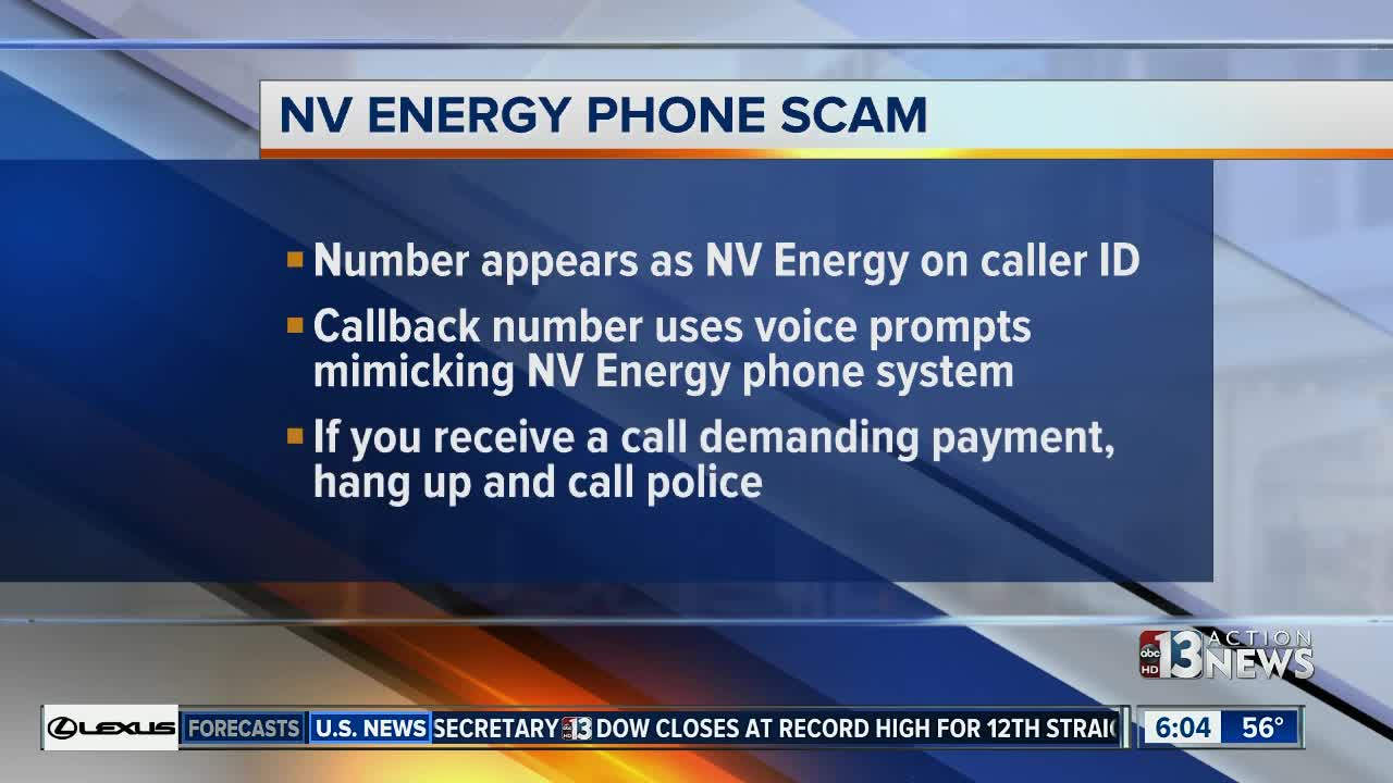 Nv Energy Phone Number >> Henderson Police Warning Of Nv Energy Scam