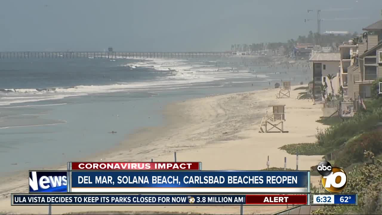 Some San Diego State Beaches Reopening Monday