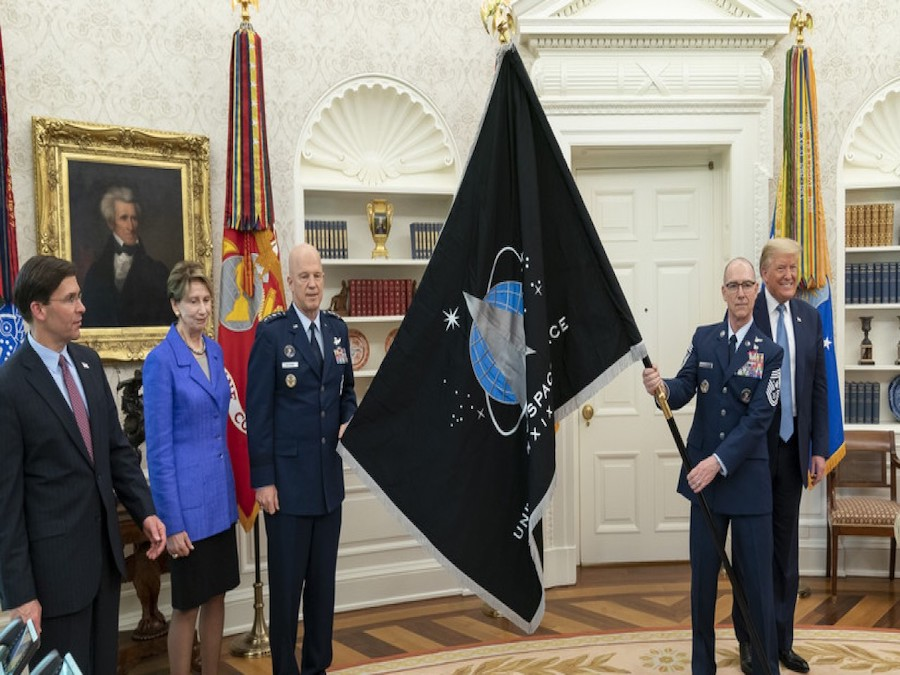 Space Force unveils its service flag at White House ceremony