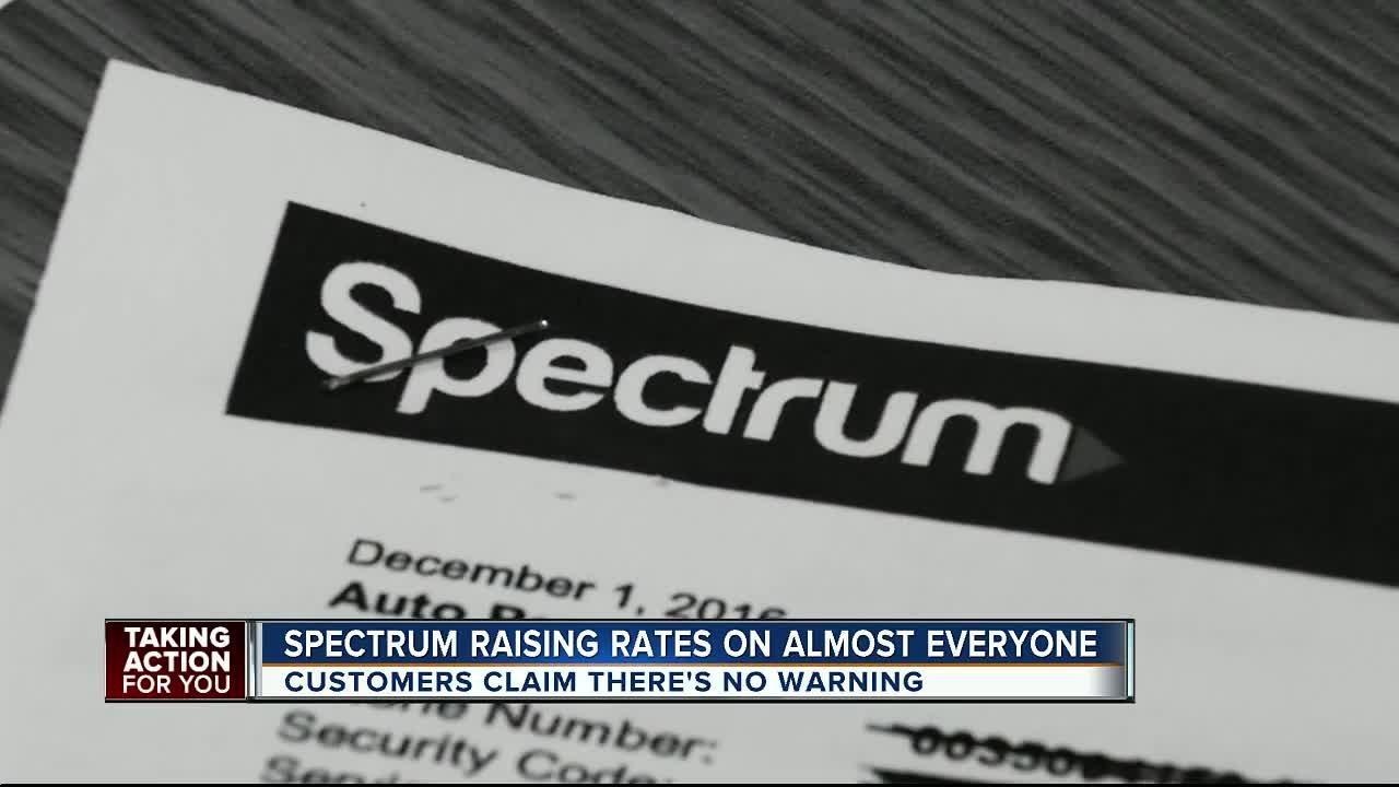 Spectrum raising rates on almost everyone