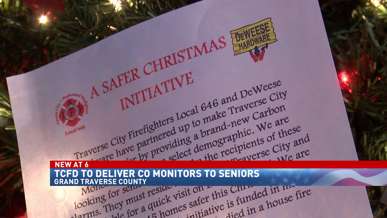 Traverse City Firefighters to deliver free CO alarms to seniors