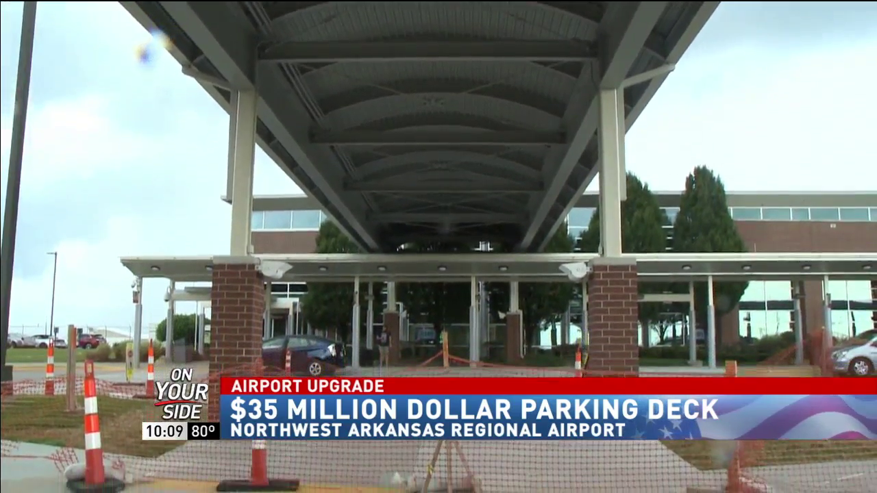 Northwest Arkansas Regional Airport has covered parking deck