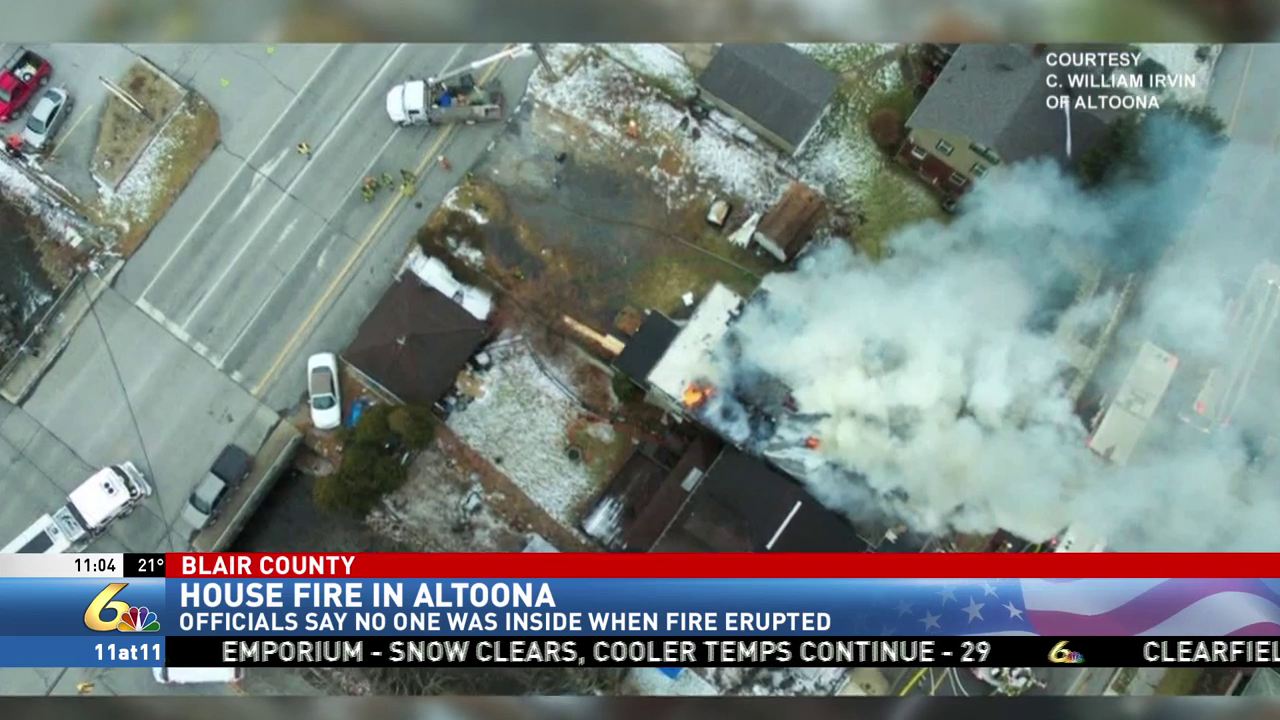 Fire crews battle house fire in Altoona