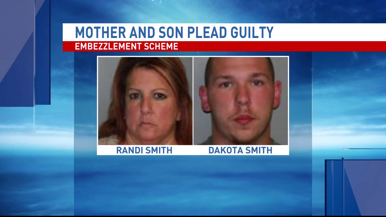 Mother and son admit to embezzlement scheme