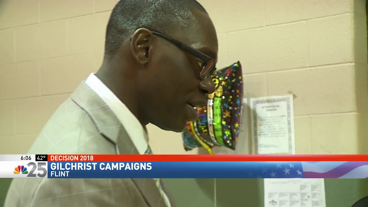 Garlin Gilchrist rallies in Flint for 'Get Out the Vote' bus tour