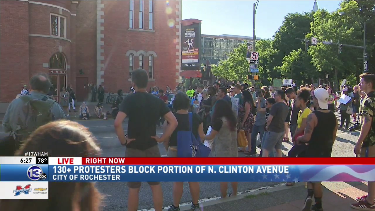 Black Lives Matter protest happening downtown