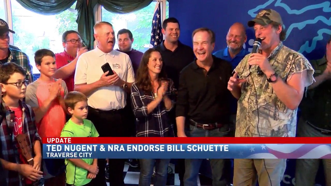 Bill Schuette holds campaign rally with rockstar Ted Nugent