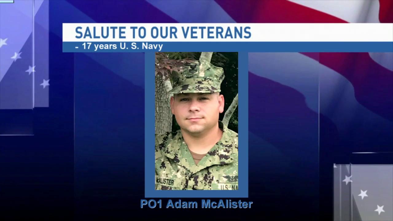 Salute to our veterans: Petty Officer First Class Adam McAlister