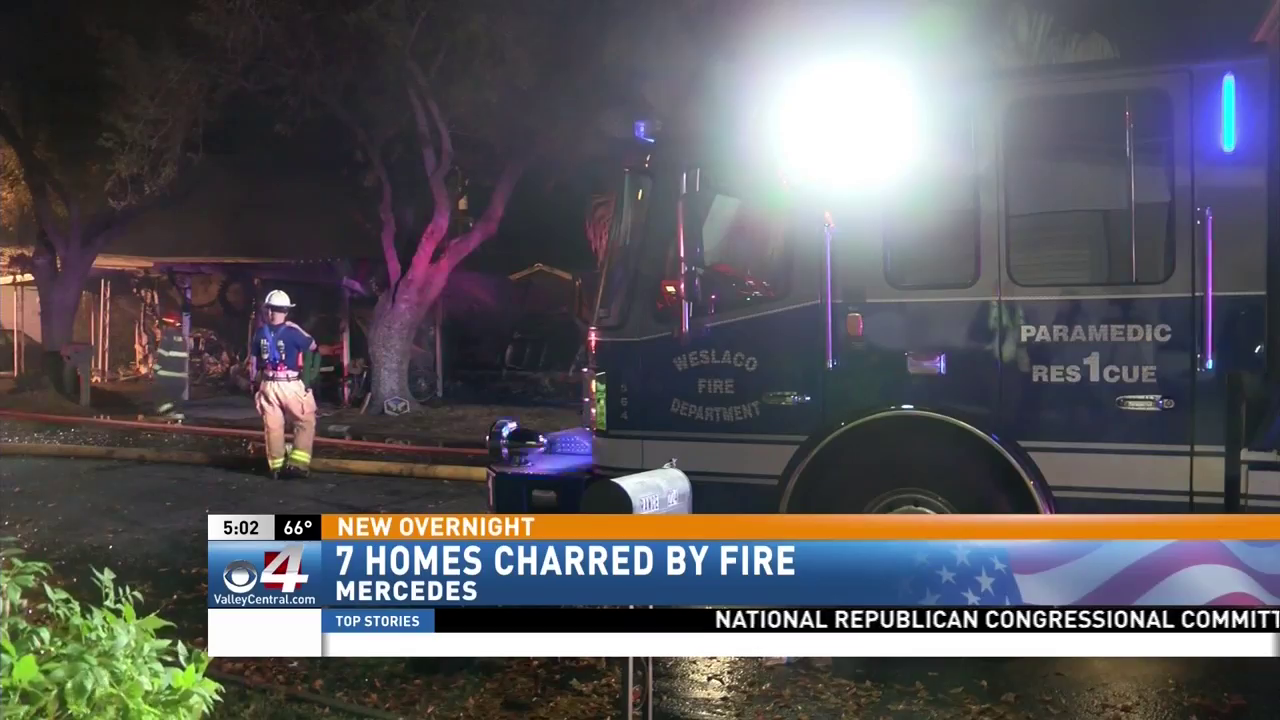 Fire in Mercedes leaves several residents displaced