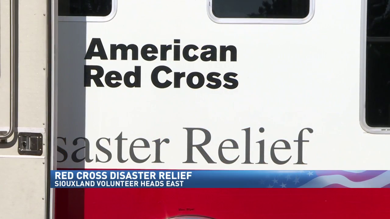 Siouxland Red Cross volunteers are heading East to help with hurricane relief