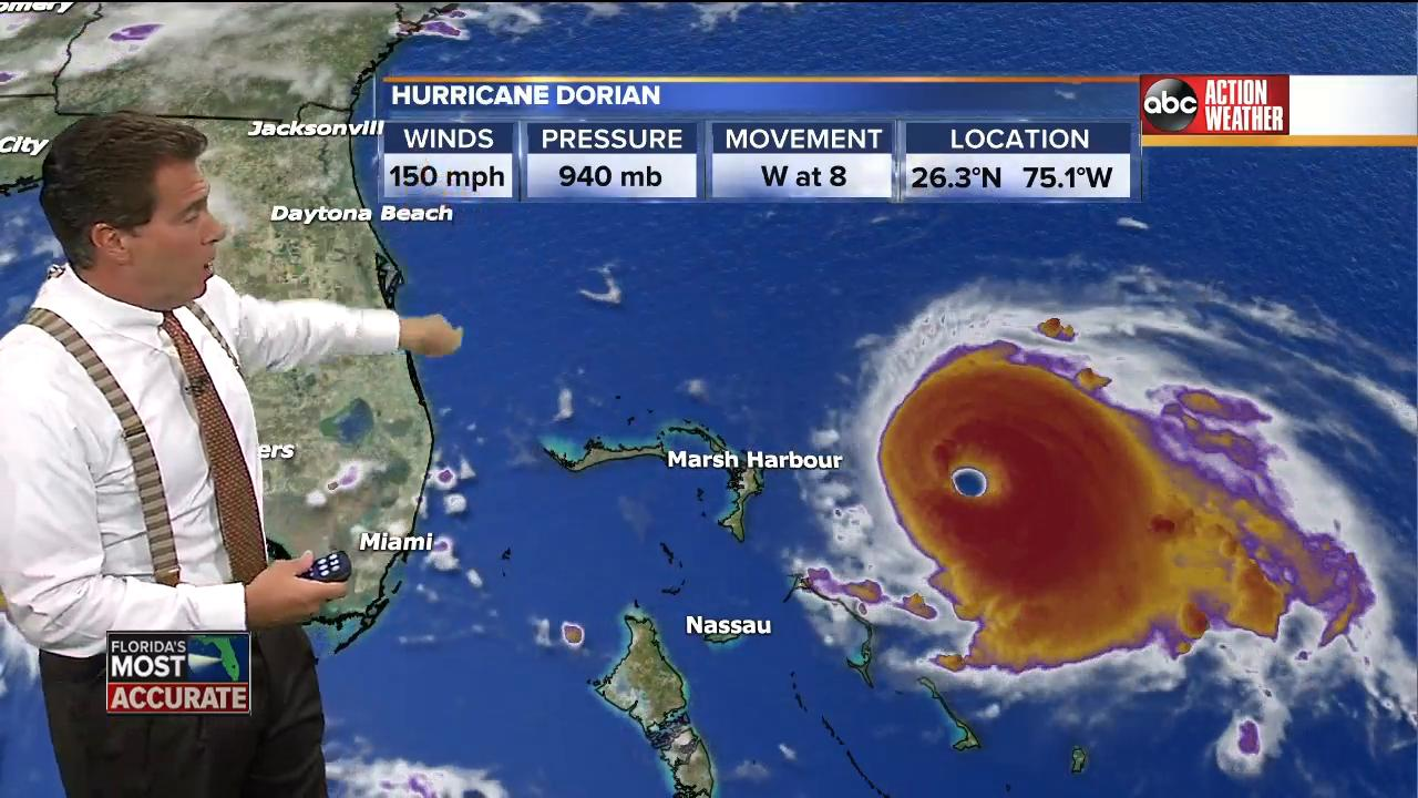 Hurricane Dorian could hit USA  as Cat 3