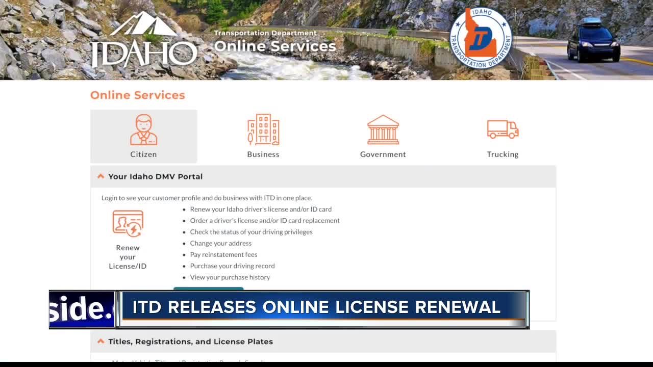 ITD Releases Online Driver's License Renewal, For Some