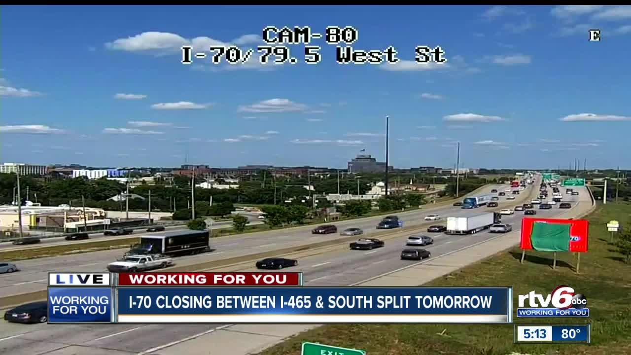 Big stretch of Interstate 70 closing for 9 days starting Friday night