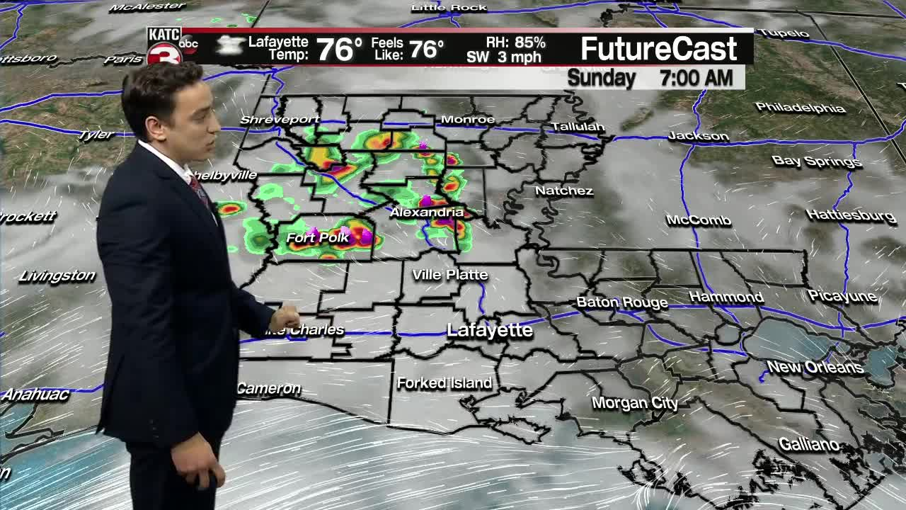 Today's Forecast: Still hot with isolated chances for showers and storms