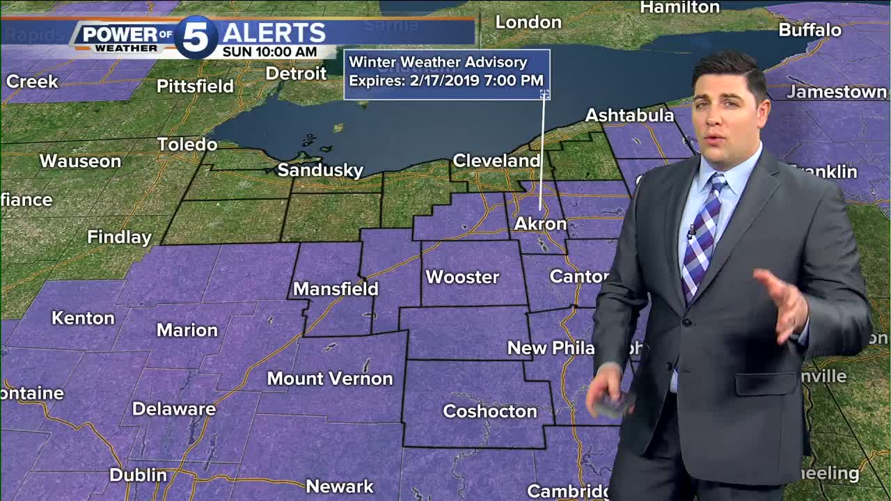 Winter Mix And Widespread Cold Rain Today