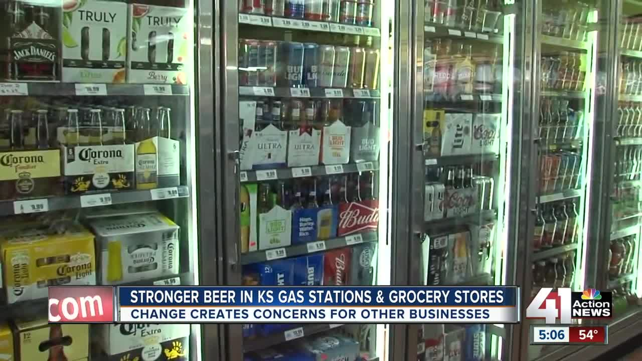 Stronger beer now for sale at grocery and convenience stores in Kansas