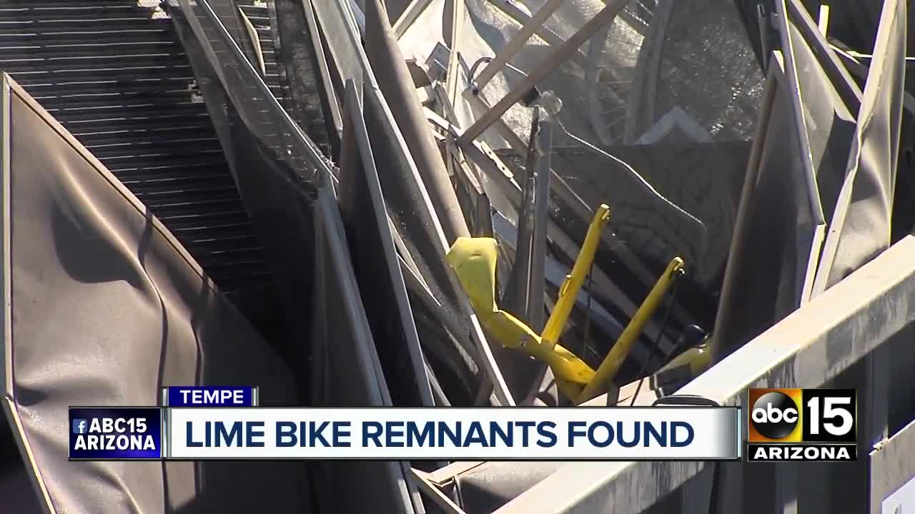 Dozens Of Lime Rental Sharing Bikes Discovered At Glendale Scrapyard An Electrical Wire With Pipe And White Background Abc15 Arizona