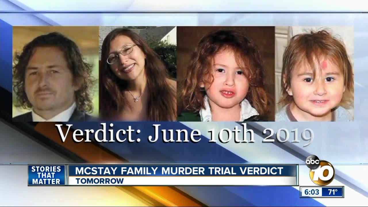 Jury reaches guilty verdict in McStay murder case