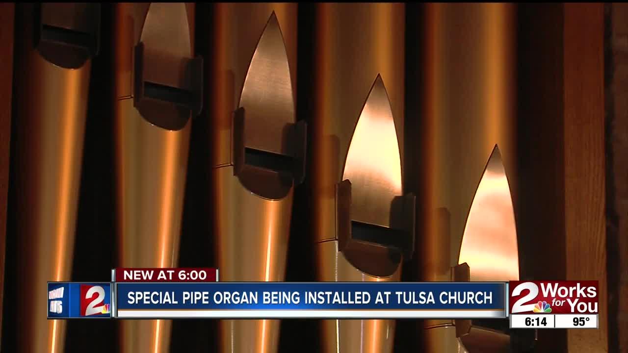 Saint John's Episcopal Church begin installing a new pipe