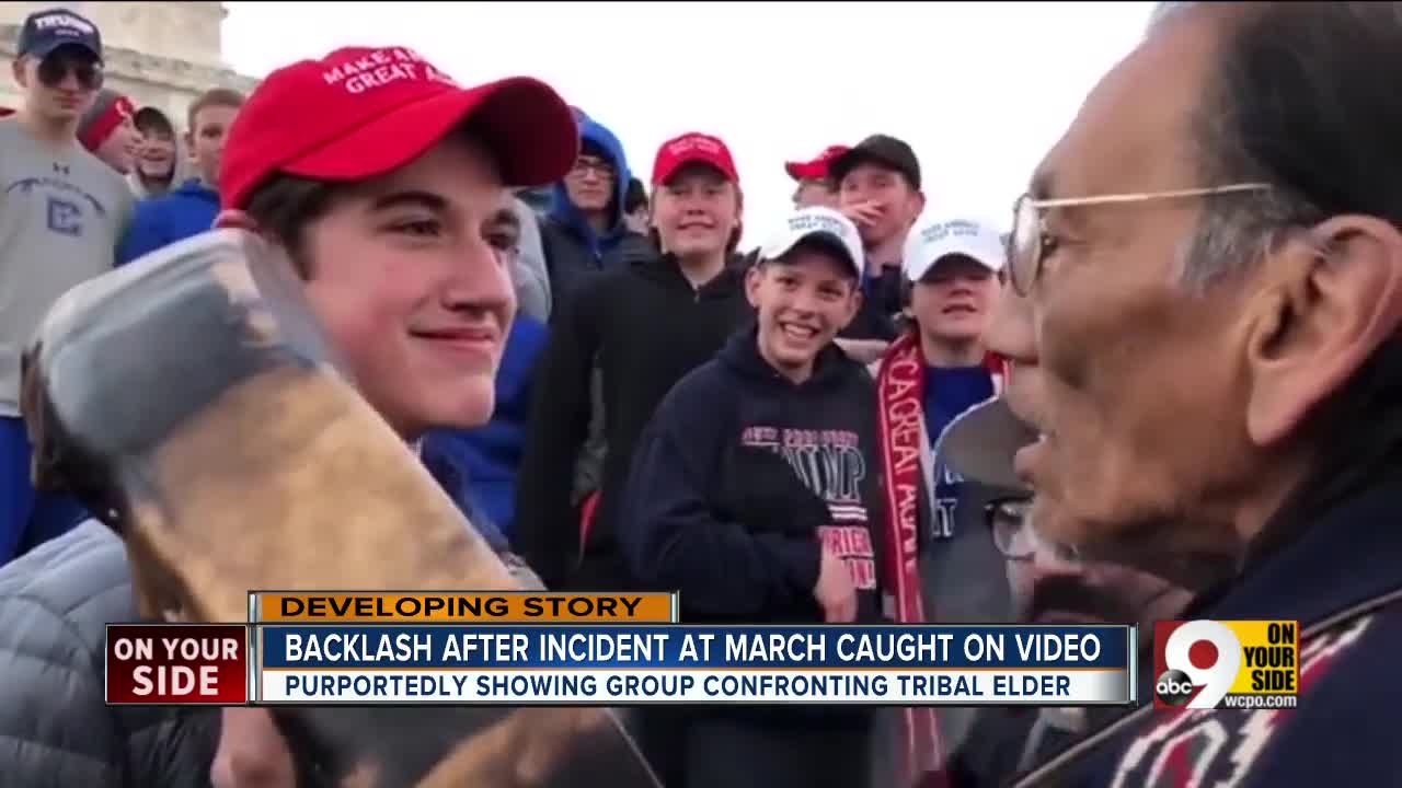 Online videos showing Covington Catholic students confronting and mocking a  member of the Indigenous People s March in Washington 3407eda0c590