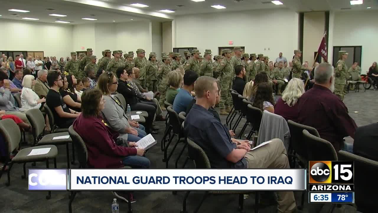 Farewell ceremony held for Arizona National Guard members