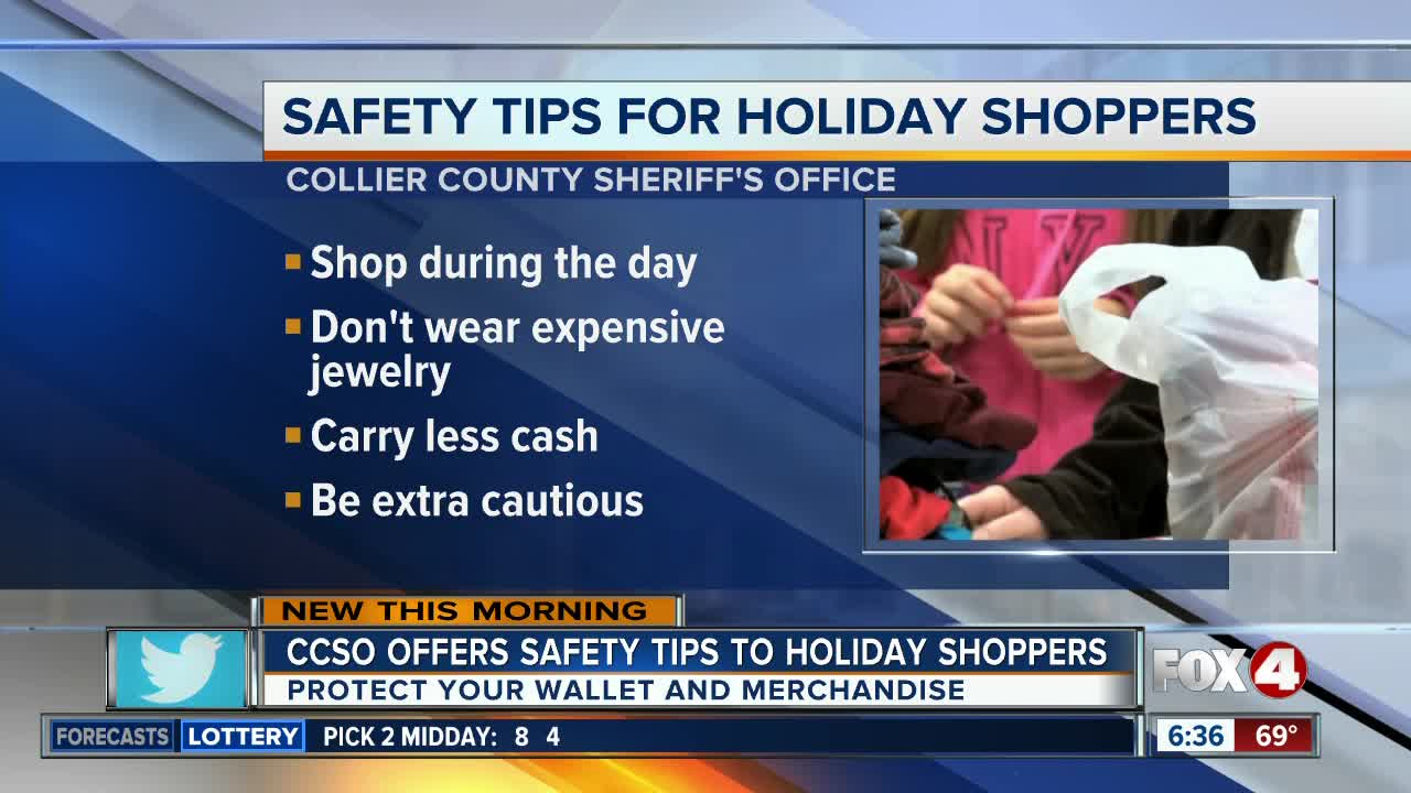 Collier County Sheriff offers holiday shopping safety tips