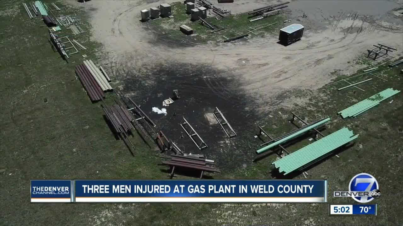 3 oil and gas contractors burned in flash fire at northern Weld