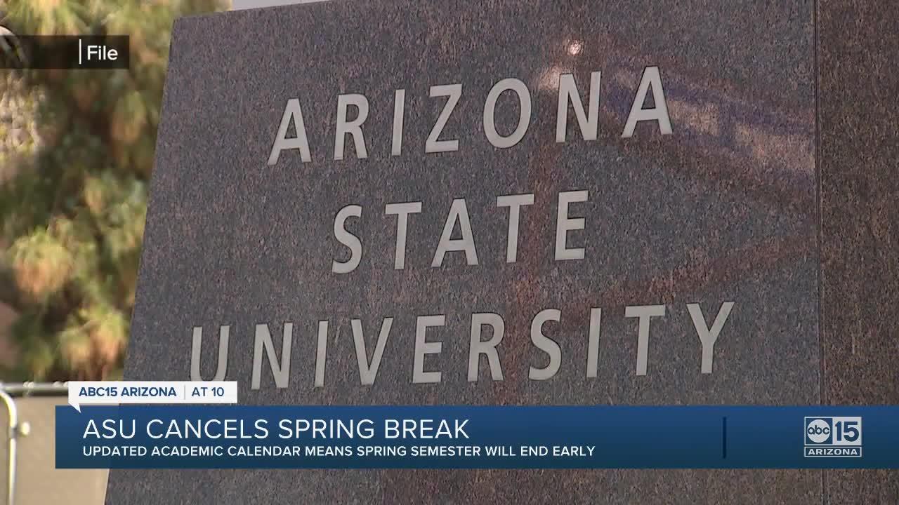 Asu Academic Calendar 2021 ASU shortens spring 2021 semester, cancels spring break amid rise