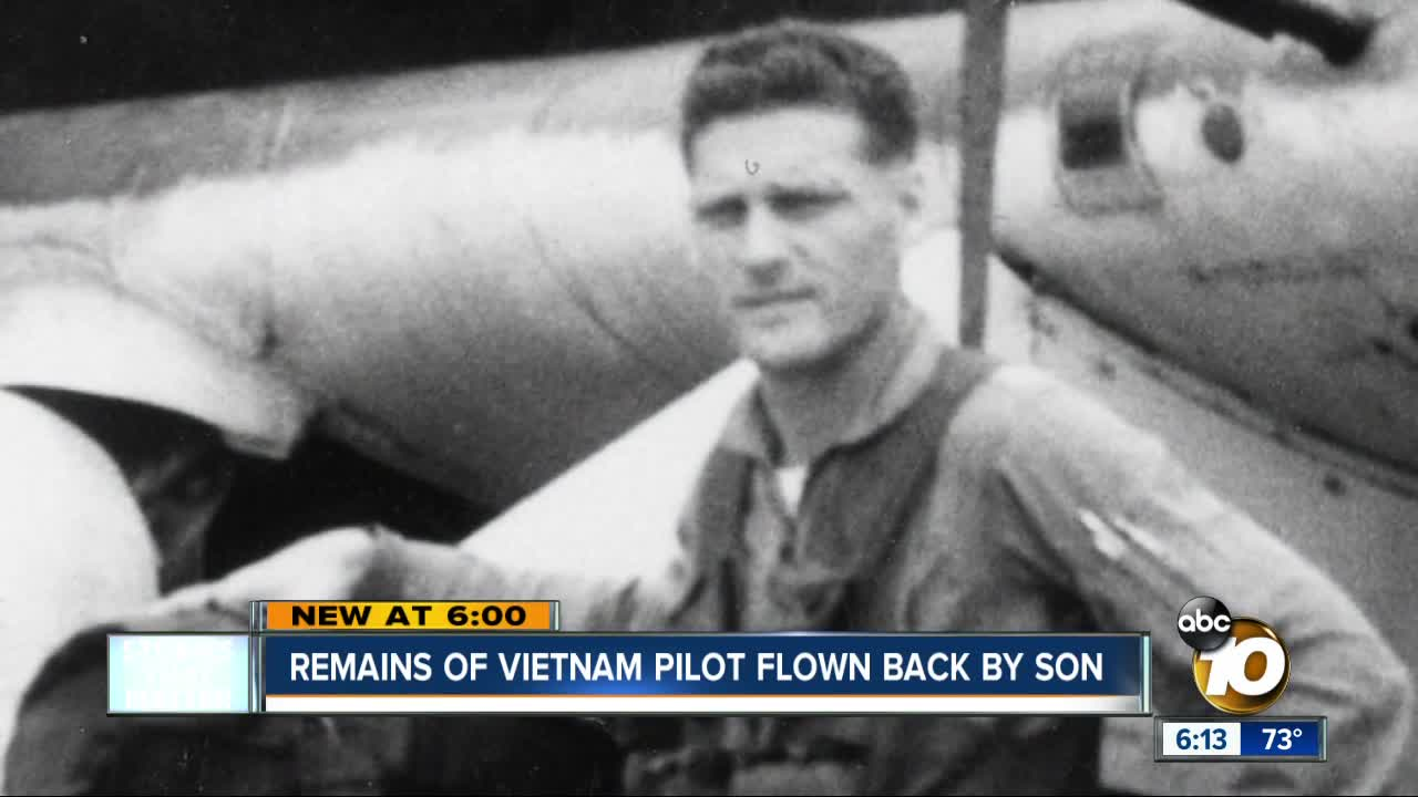 Son returns remains of USAF pilot killed in Vietnam war