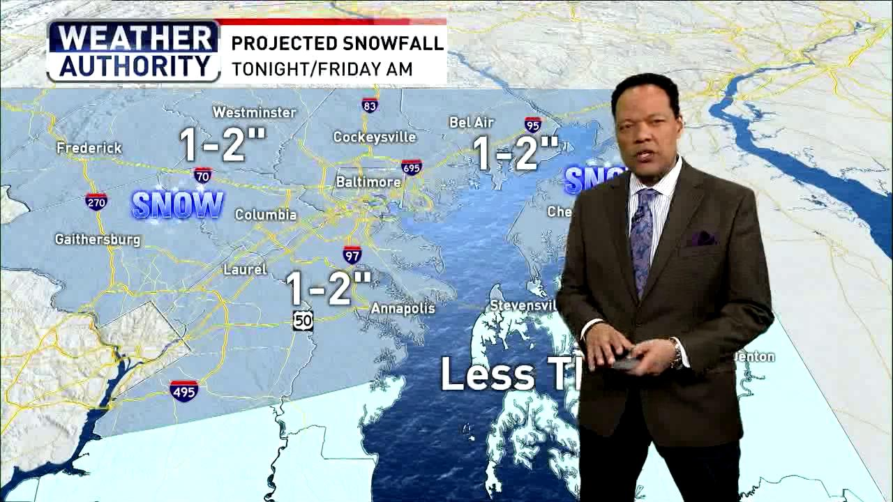 Wintry mix moves into Maryland