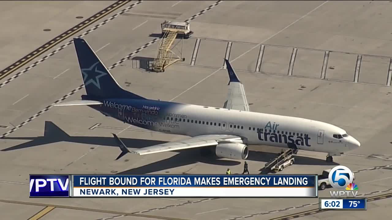 Plane makes emergency landing in New Jersey after possible cargo fire