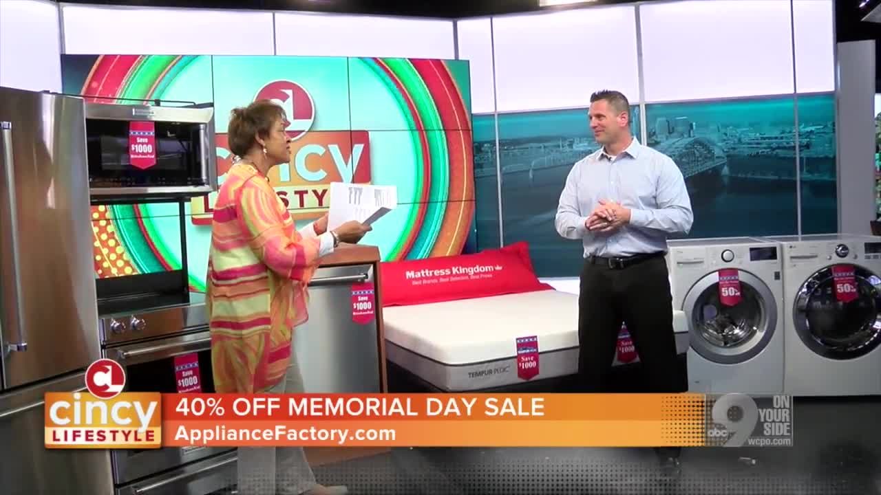 Memorial Day Deals From Appliance Factory And Mattress Kingdom