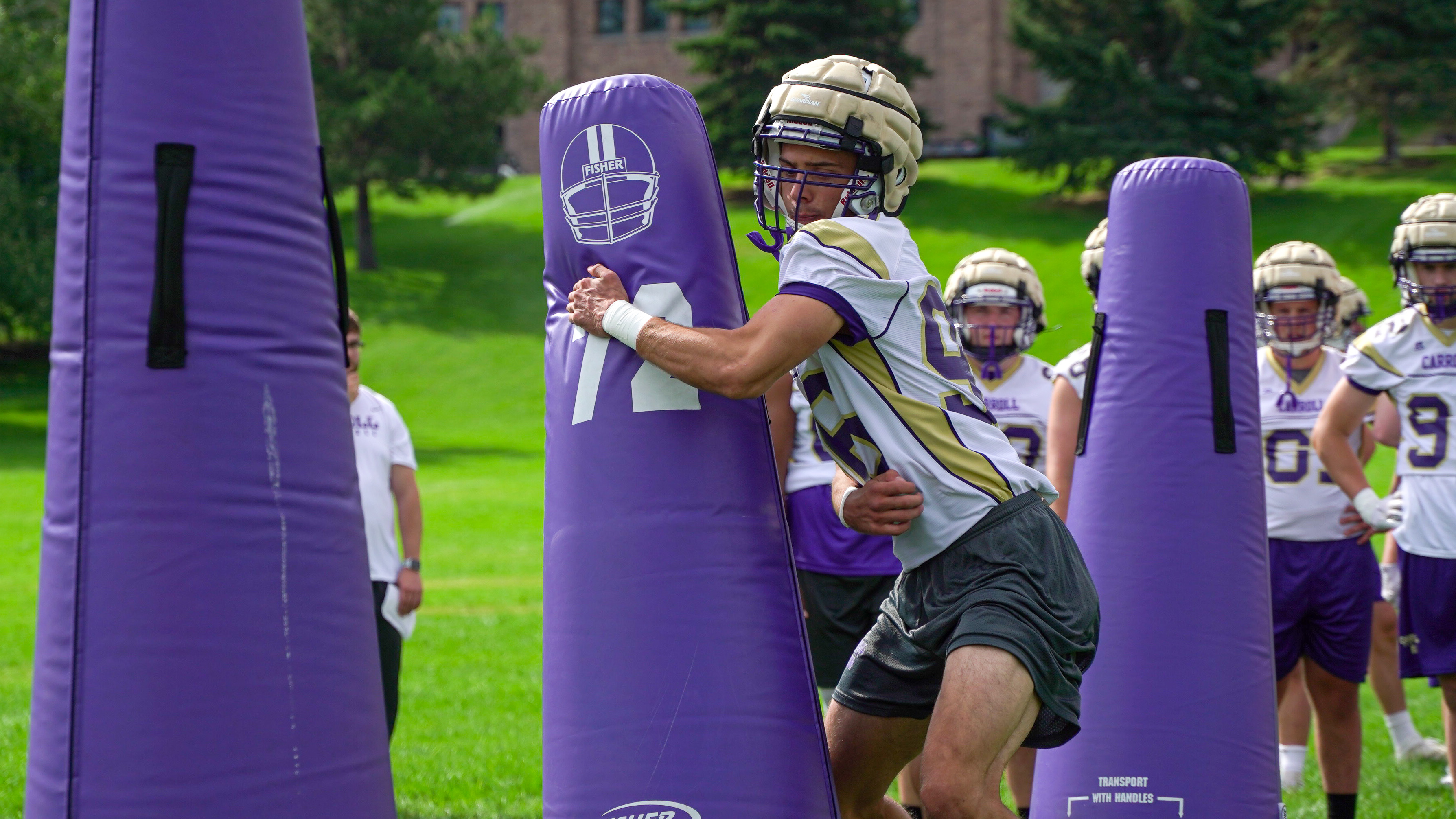 Troy Purcell Carroll College Football Open Fall Camp With