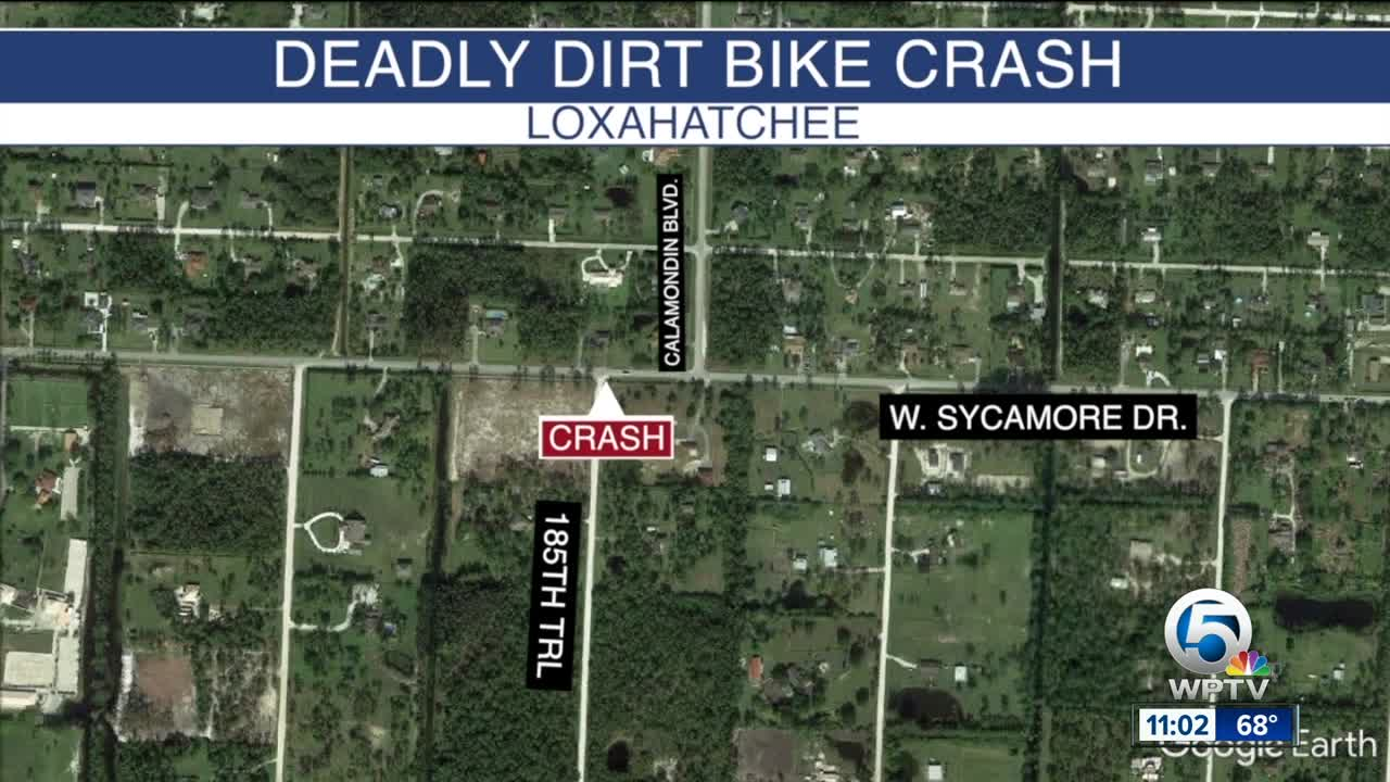 13-year-old boy killed in Loxahatchee dirt bike crash