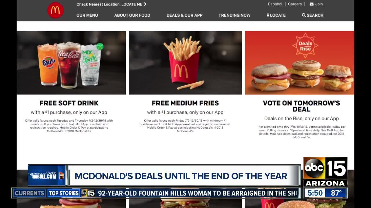 How to get free medium French fries from McDonald\'s for the rest of ...
