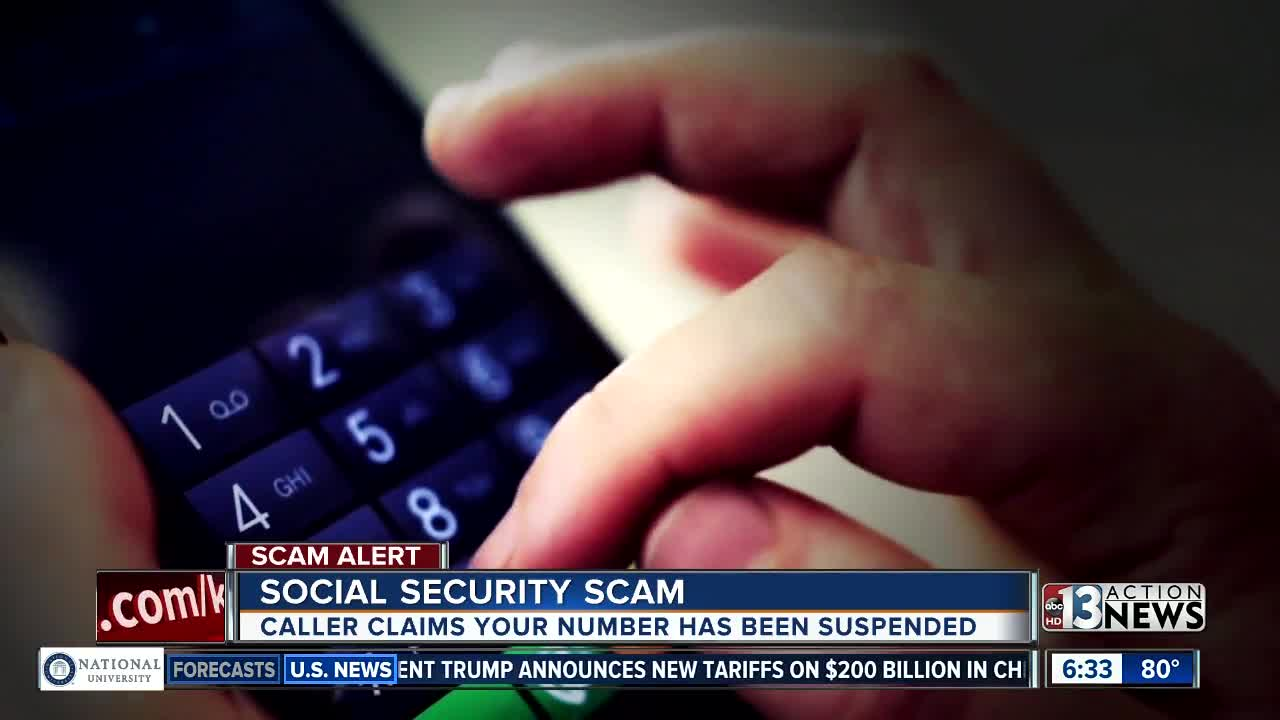 call about social security number being suspended