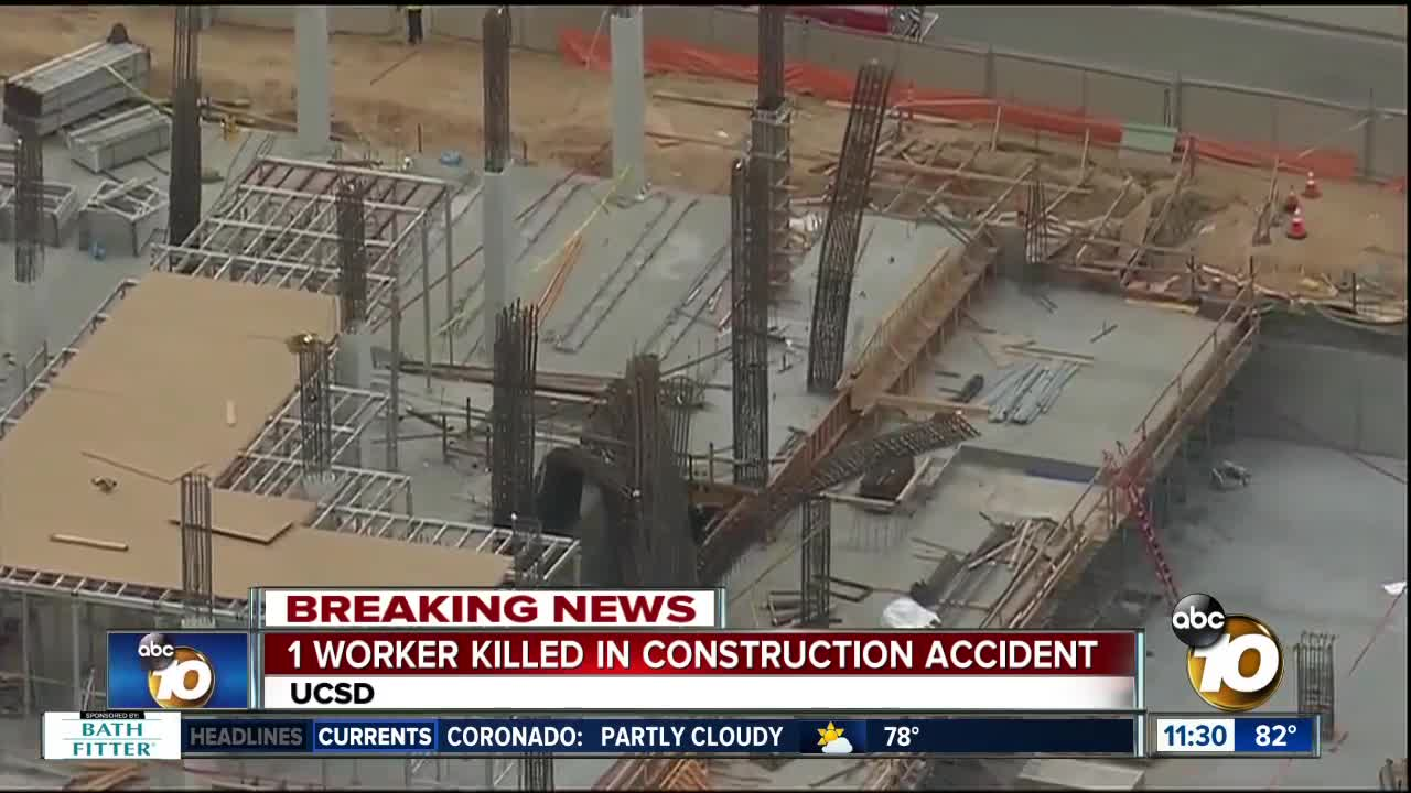 1 dead, 4 injured in accident at construction site at UC San