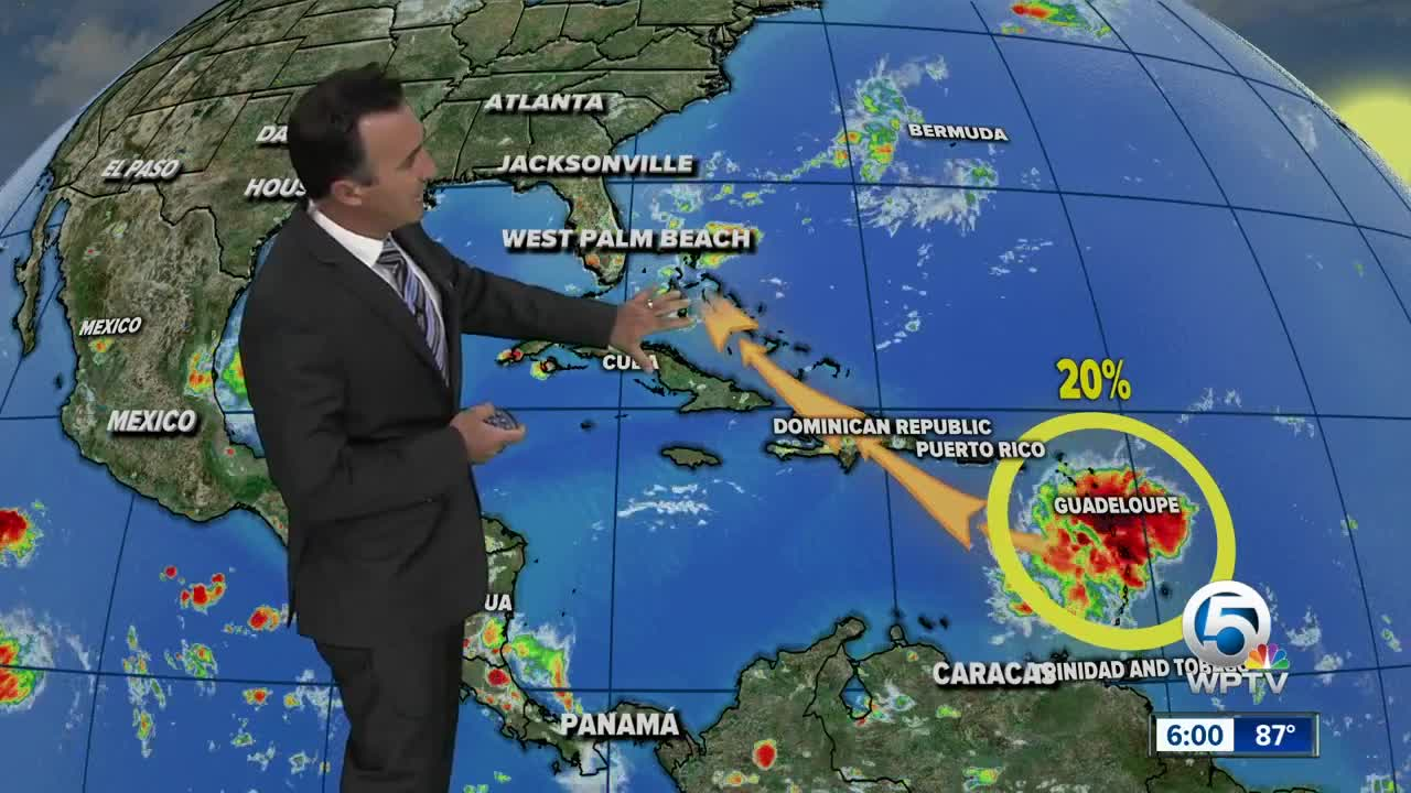 Tropical wave over the Caribbean Sea could develop and hit Florida