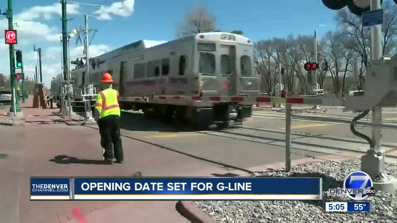 RTD announces April 26 opening date for long-delayed G Line