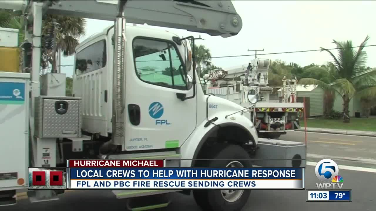 Local FPL crews head to North Florida to help with power restoration