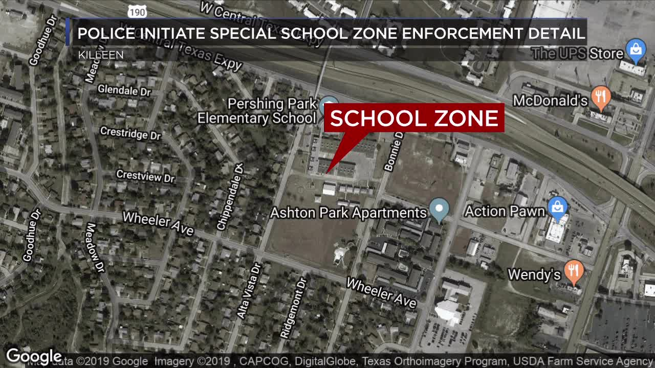Killeen police issue 76 citations for speeding in a school zone