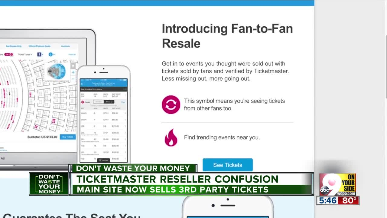 Ticketmaster 3rd party tickets confuse buyers