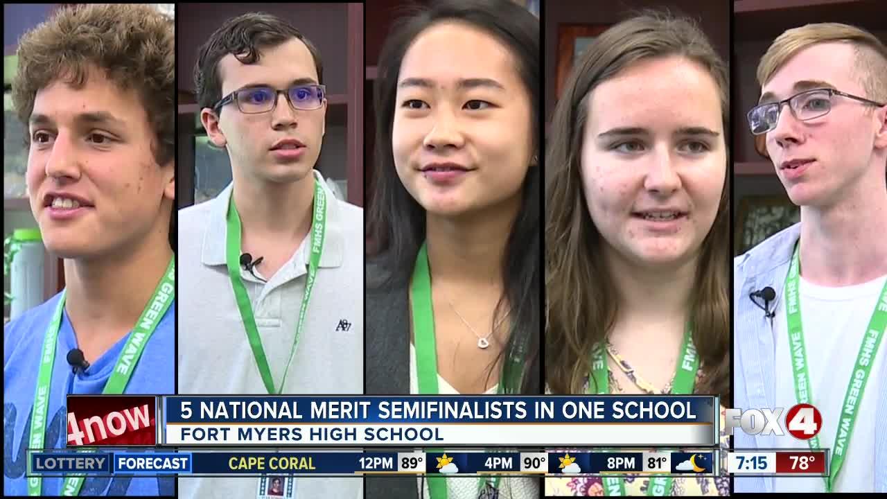 Five National Merit Scholarship Program semifinalists