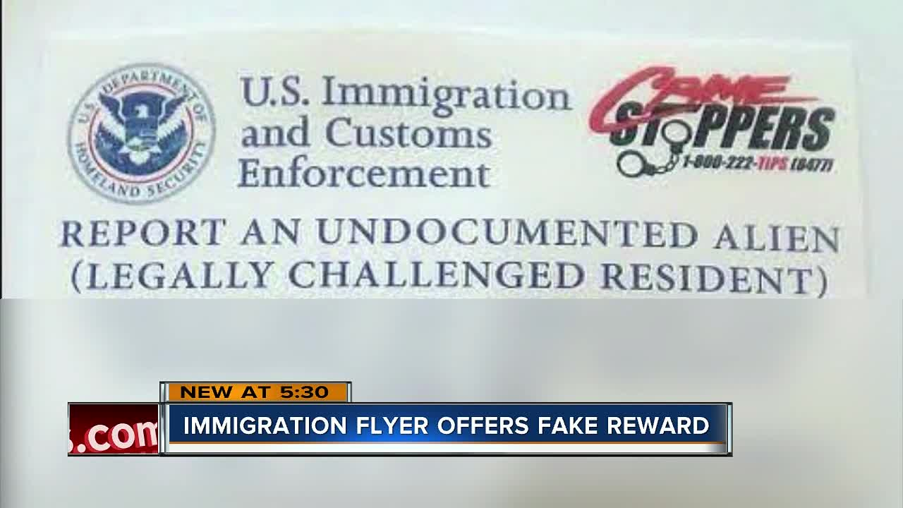 flyer circulating in florida offering fake reward to turn in