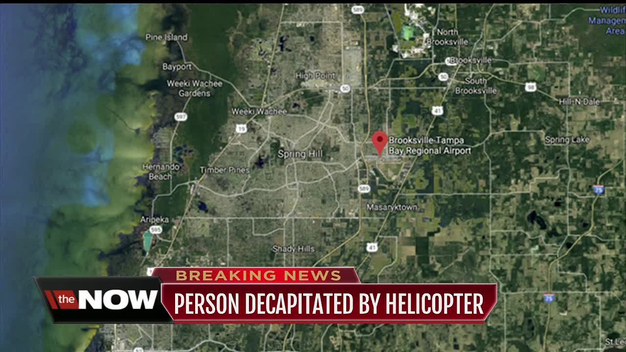 Helicopter decapitates person in Hernando County