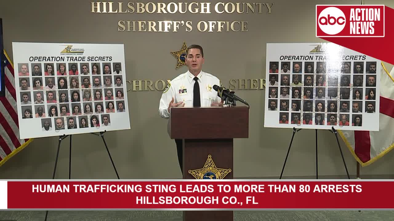 Hillsborough Co  human trafficking sting leads to 85 arrests