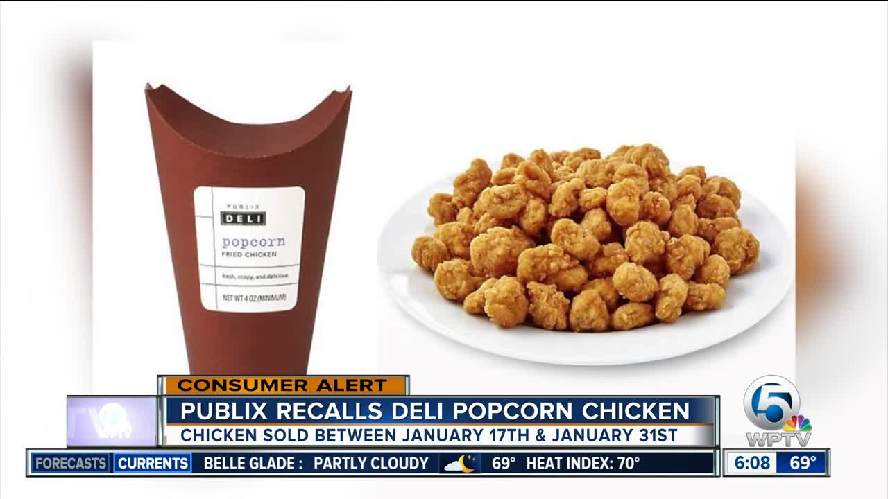 Publix recalls Deli Popcorn Chicken - it might have something other than chicken