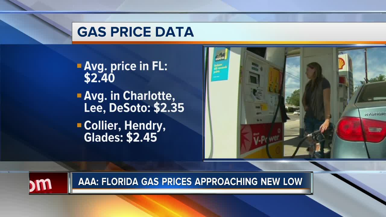 Gas Prices In Florida >> Aaa Florida Gas Prices Push New Summertime Low