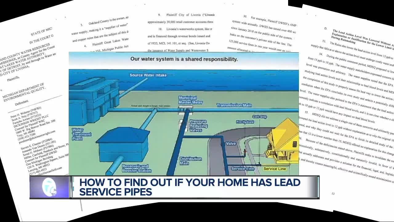 Thousands of Michigan homes have lead service lines