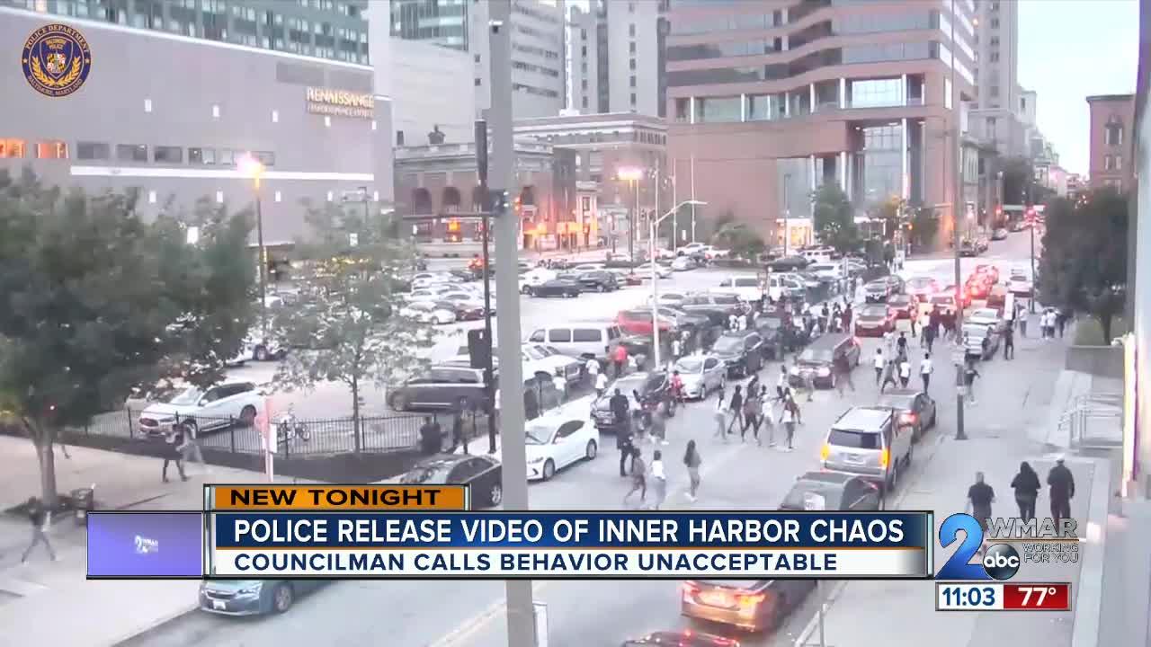 City Police release video of Inner Harbor weekend incident